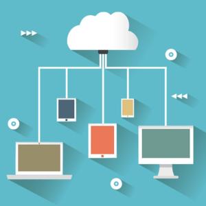 Illustration of cloud based storage