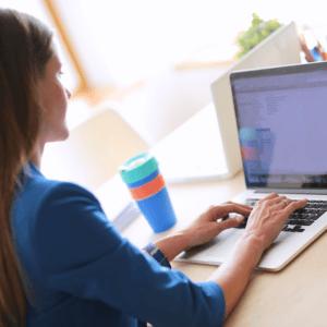 Photo of girl on computer