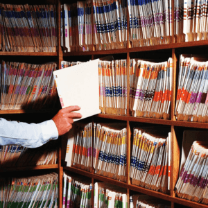 Photo of legal document archive