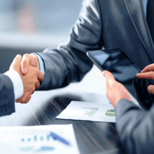 Photo of businessmen shaking hands
